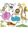 Jungle animals vector image