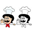 lurking cartoon chef vector image vector image