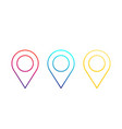 map pointers location icons linear pins vector image