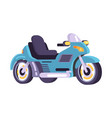 motorbikes set stylish motor transport item vector image