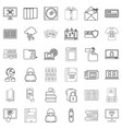 page icons set outline style vector image vector image