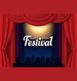 paper cut festival show poster template vector image