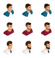 quality isometry a set of 3d avatars vector image