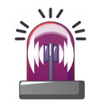 red flash siren icon cartoon style vector image vector image