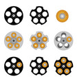 revolver cylinder with five holes vector image vector image