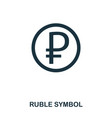 ruble symbol icon mobile app printing web site vector image vector image