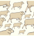 seamless color cute sheep pattern childish vector image vector image