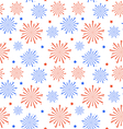 Seamless Pattern firework for Independence Day of vector image vector image
