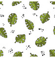 seamless stylized natural monstera plant pattern vector image vector image