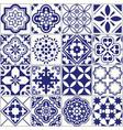 Seamless tiles pattern mediterranean floral mosai vector image