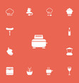 set of 13 editable cook icons includes symbols vector image vector image