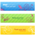 Set of floral colorful banners vector image