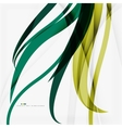 Shiny colorful abstract background green and blue vector image vector image