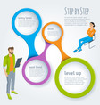 step by step infographics vector image