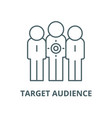 target audience line icon linear concept vector image vector image