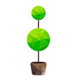 triangle tree in pot vector image