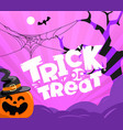 trick or treat party vector image vector image