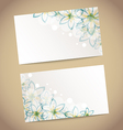 Two retro wedding cards with flowers vector image vector image