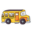 vehicle school bus education transportation vector image vector image