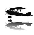 Vintage airplane vector image vector image