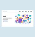 web site design template employee salary vector image