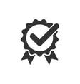 winner icon in flat style rosette award on white vector image vector image