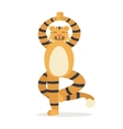 Yoga Animal Tiger Cute Tigris Does Asana vector image