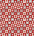 Christmas design icons set backgroundSeamless vector image