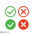 Confirm and deny flat icon logo for web design vector image