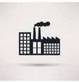 industrial factory in a flat style icon vector image