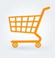 flat design shopping cart vector image