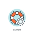 Lifebuoy flat web icon Internet support concept vector image