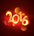 2016 greeting in golden style vector image vector image