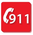 911 emergency vector image vector image