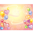 Background with balloons rose vector image vector image
