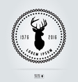 Badge labels hipster logo deer head Retro vintage vector image vector image