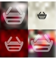 basket icon on blurred background vector image vector image