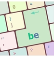 be word on keyboard key notebook computer button vector image vector image