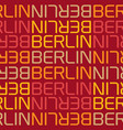 berlin germany seamless pattern vector image