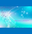 big genomic data visualization dna helix dna vector image vector image
