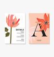 big macro flower red dahlia design i wild floral vector image vector image