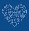 blogger concept creative thin line heart vector image