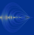blue audio wave background digital music player vector image vector image