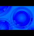 blue geometric technology background with circle vector image vector image