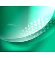 Blue-green smooth wave template vector image vector image