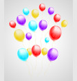 bundle of flying multicolored balloons vector image
