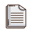 business document business data archive vector image vector image