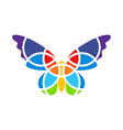 Butterfly mosaic isolated White background vector image vector image