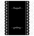 Card design vintage ornate frame vector image vector image