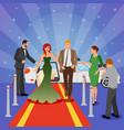 celebrity design composition vector image vector image